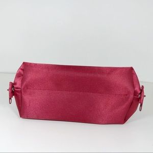 CHANEL Bags - Chanel Parfums Red Satin Cosmetic Bag Medium Size